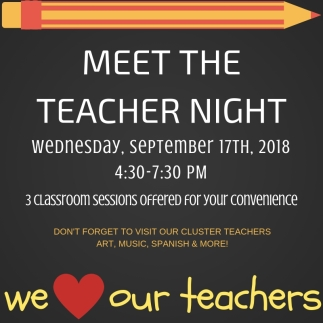 MEET THE TEACHER NIGHT! 18