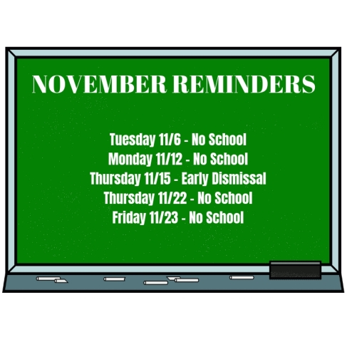 November Reminders