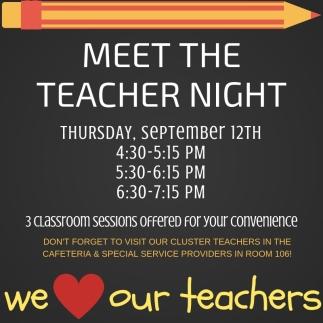 MEET THE TEACHER NIGHT!