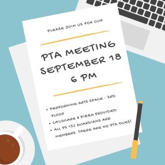 PTA Meeting 9-18